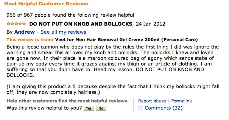 Veet for men review